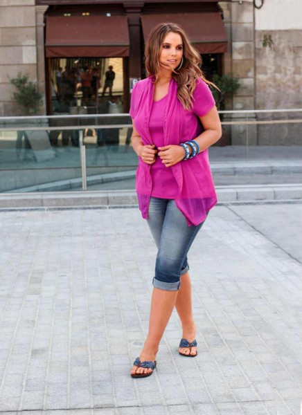 2-in-1 Shirt pink de luxe